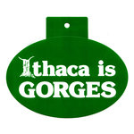"""Ithaca is Gorges Decal - 4"""" x 6"""" Oval"""