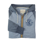 MV Sport Vintage Marled Full Zip Hooded Sweatshirt