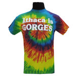 Ithaca is Gorges T-shirt - Rainbow Tie Dye