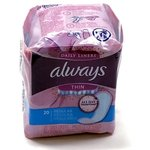 Always Thin  Daily Liner, 20ct