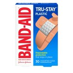 Bandaid Plastic Assorted, 30 Count