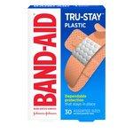 Bandaid Plastic Assorted, 30 Count