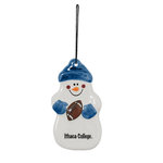 "4"" Snowman Football Ornament"