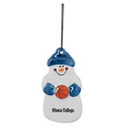 "4"" Snowman Basketball Ornament"