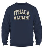 Ithaca College Alumni Crewneck Sweatshirt - Felt Applique Design